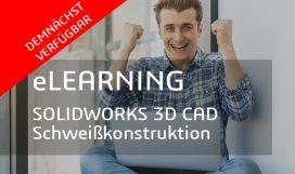 SOLIDWORKS 3D CAD Schweißkonstruktionen E-Learning 870v440 web DEMNAECHST verfügbar